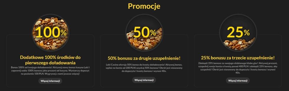 bonusy i promocje w loki casino